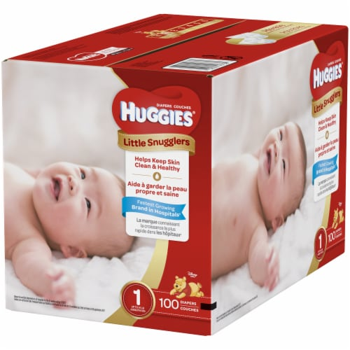 Huggies Size 1 Little Snugglers Diapers Perspective: right