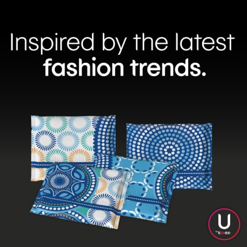 U by Kotex Lightdays Plus Unscented Regular Absorbency Panty Liners Perspective: right