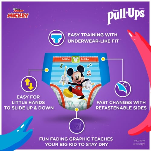 Pull-Ups Learning Designs Boys Training Pants 2T-3T 74 Count Perspective: right