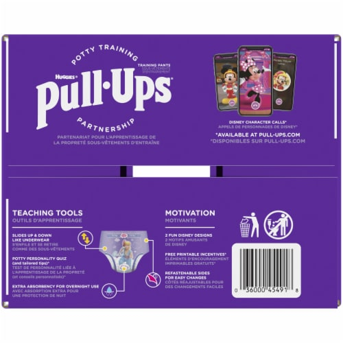 Pull-Ups 3T-4T Girls Night Time Training Pants 60 Count Perspective: right