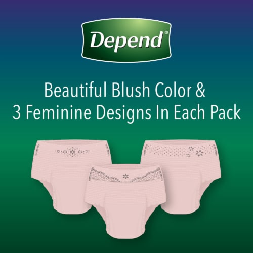 Depend Night Defense Overnight Absorbency Large Incontinence Underwear for Women Perspective: right