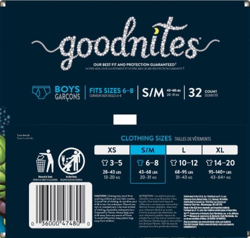 Goodnites Small / Medium Boys Bedwetting Underwear Perspective: right