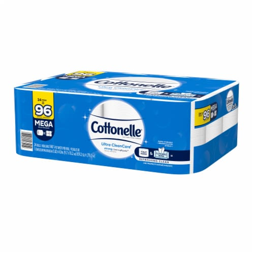 Cottonelle Ultra CleanCare Mega Toilet Paper Rolls Perspective: right