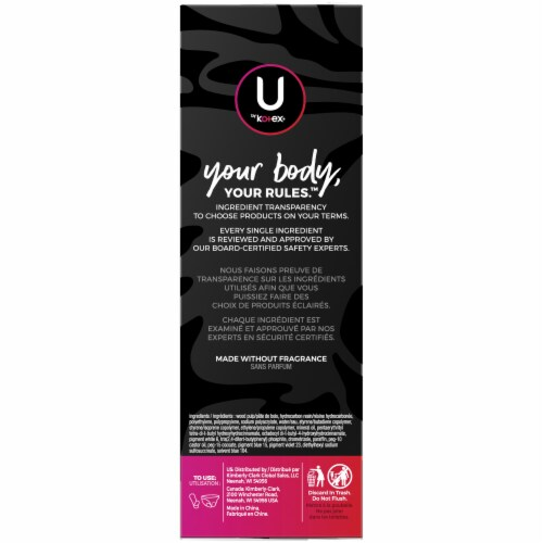 U by Kotex Barely There Regular Everyday Liners Perspective: right