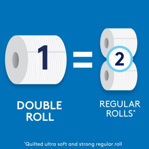 Cottonelle Ultra CleanCare Double Roll Toilet Paper Perspective: right