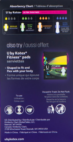 U by Kotex AllNighter Extra Heavy Overnight Ultra Thin Pads Perspective: right