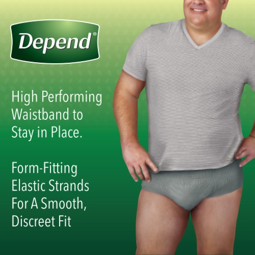 Depend FIT-FLEX Maximum Absorbency Large Incontinence Underwear for Men Perspective: right