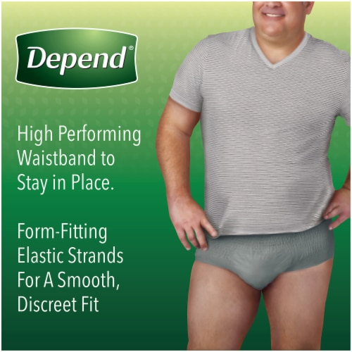Depend Fit-Flex Size Extra Large Maximum Absorbency Incontinence Underwear for Men Perspective: right