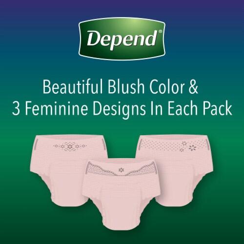 Depend Night Defense Medium Women's Underwear Perspective: right