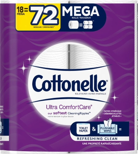 Cottonelle Ultra ComfortCare Mega Roll Toilet Paper Perspective: right