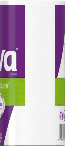 Viva Signature Cloth Choose-A-Sheet Paper Towels White Big Roll Perspective: right