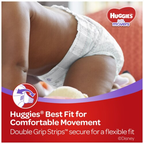 Huggies Little Movers Size 3 Diapers Perspective: right