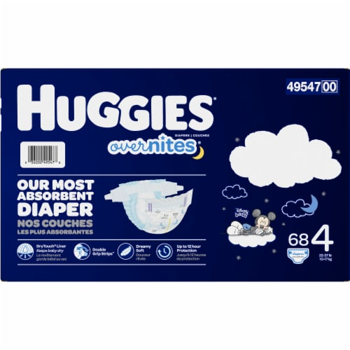 Huggies Overnites Size 4 Diapers Perspective: right