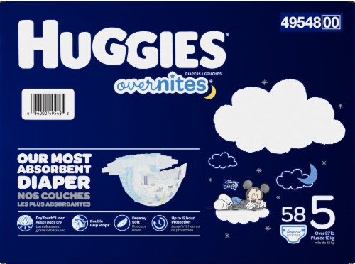 Huggies Overnites Nighttime Diapers Size 5 Perspective: right