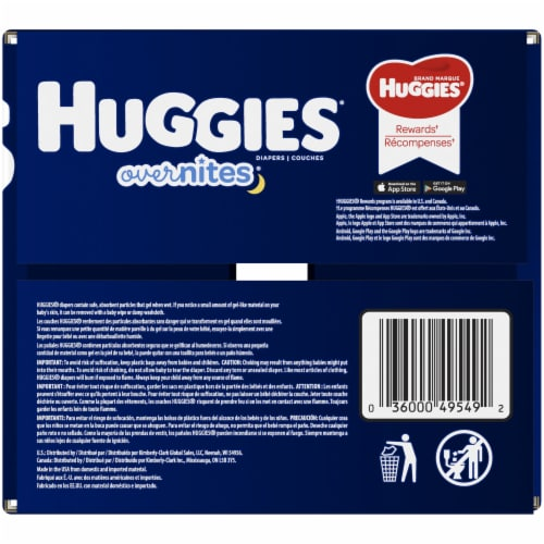 Huggies Overnites Nighttime Diapers Size 6 Perspective: right