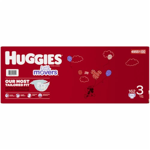 Huggies Little Movers Size 3 Baby Diapers Perspective: right