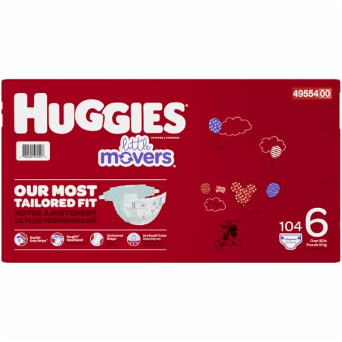 Huggies Little Movers Size 6 Diapers 104 Count Perspective: right