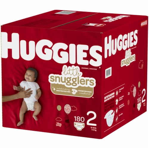Huggies Little Snugglers Size 2 Baby Diapers Perspective: right
