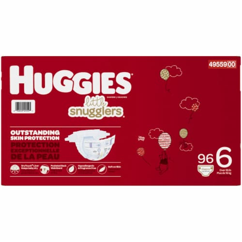 Huggies Little Snugglers Size 6 Diapers Perspective: right