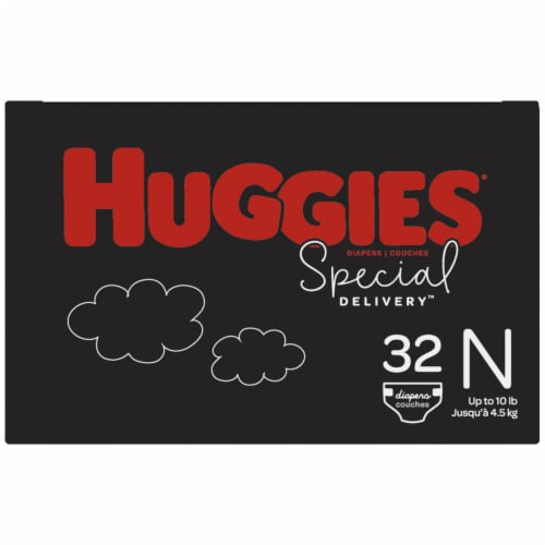 Huggies Special Delivery Newborn Baby Diapers Perspective: right