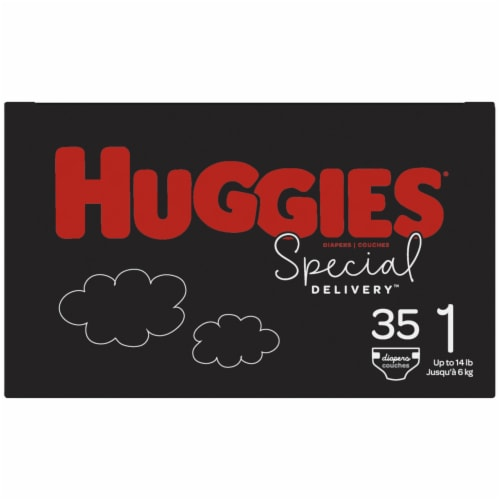 Huggies Special Delivery Size 1 Baby Diapers 35 Count Perspective: right