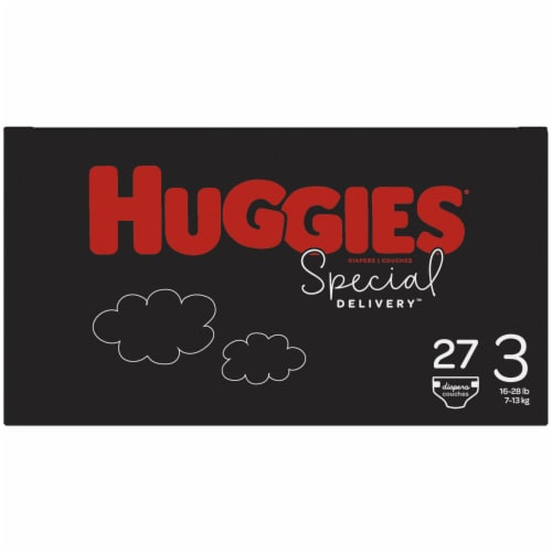 Huggies Special Delivery Size 3 Baby Diapers 27 Count Perspective: right
