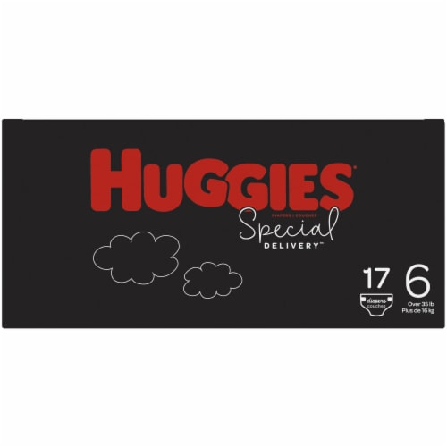 Huggies Special Delivery Size 6 Baby Diapers 17 Count Perspective: right