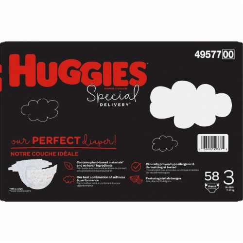 Huggies Special Delivery Size 3 Baby Diapers Perspective: right