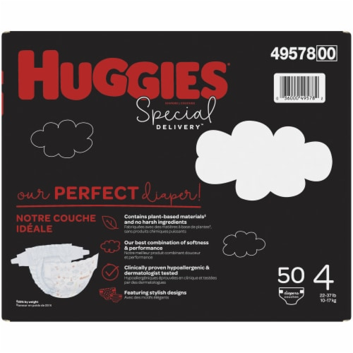 Huggies Special Delivery Size 4 Baby Diapers Perspective: right