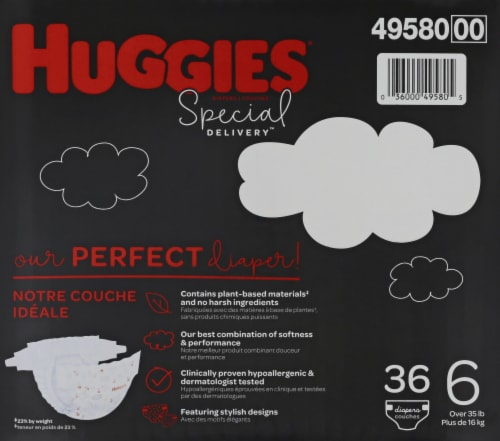 Huggies Special Delivery Size 6 Baby Diapers Perspective: right