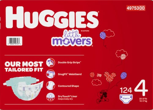 Huggies Little Movers Diapers Size 4 Perspective: right