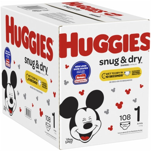 Huggies Snug & Dry Size 1 Diapers Perspective: right