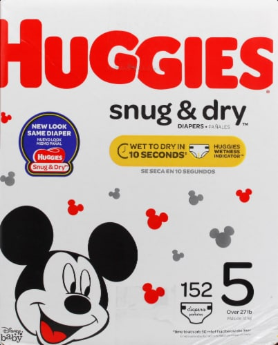 Huggies Snug & Dry Size 5 Baby Diapers Perspective: right