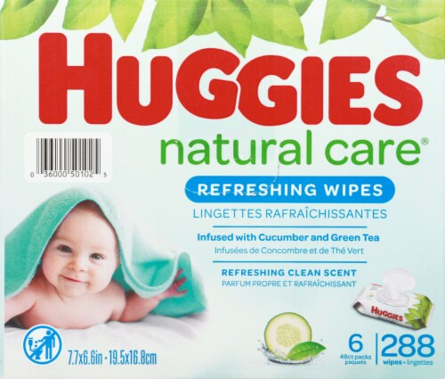 Huggies Refreshing Clean Baby Wipes Perspective: right
