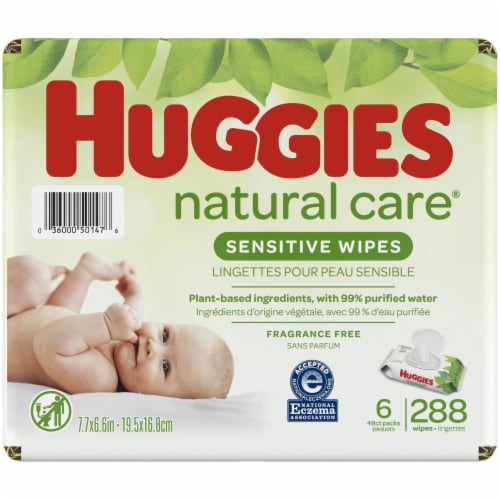 Huggies Natural Care Fragrance Free Baby Wipes Perspective: right