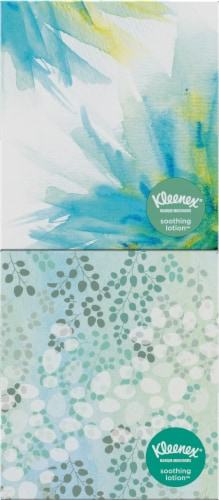 Kleenex Soothing Lotion Facial Tissues Cube Boxes Perspective: right