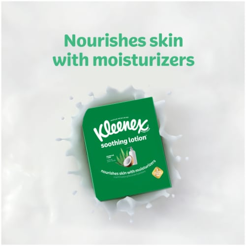 Kleenex Soothing Lotion Facial Tissues Perspective: right