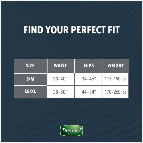 Depend Real Fit Large/Extra Large Maximum Absorbency Incontinence Briefs Perspective: right