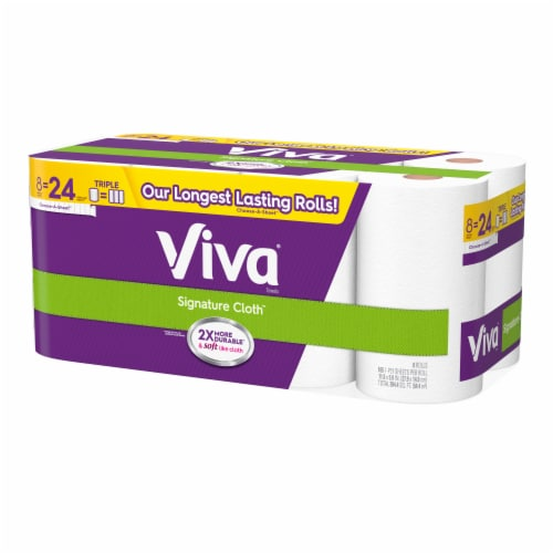Viva Signature Cloth Triple Paper Towel Rolls 8 Count Perspective: right