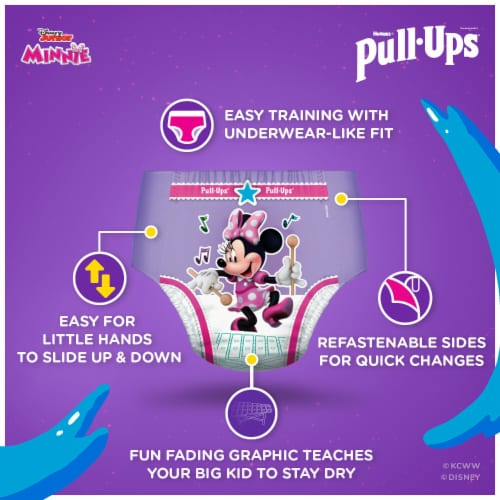 Pull-Ups Learning Designs 2T-3T Girls' Training Pants Perspective: right