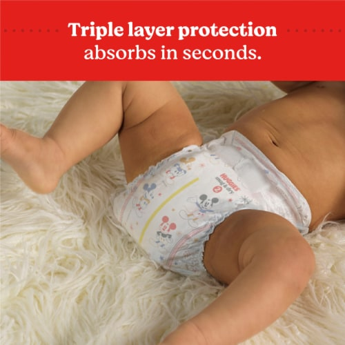 Huggies Snug and Dry Jumbo Pack Size 1 Baby Diapers Perspective: right