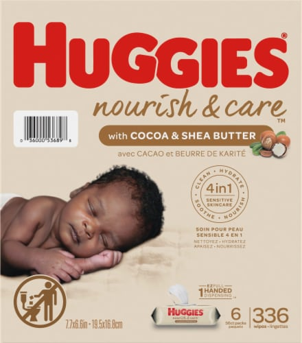 Huggies Nourish & Care Baby Wipes Perspective: right