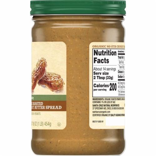 Santa Cruz Organic No Stir Crunchy Dark Roasted Peanut Butter Spread Perspective: right