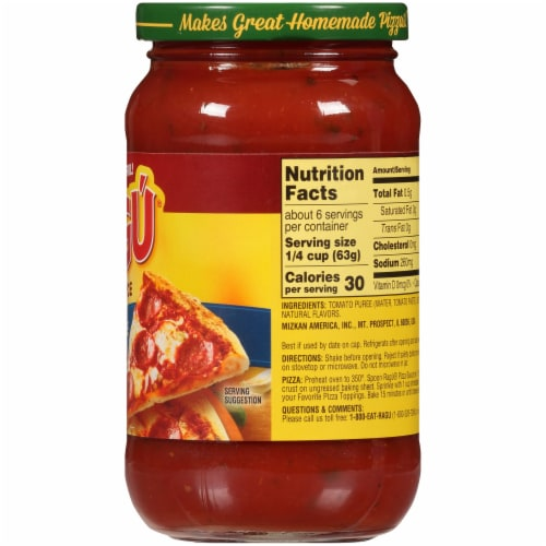 Ragu Homemade Style Pizza Sauce Perspective: right