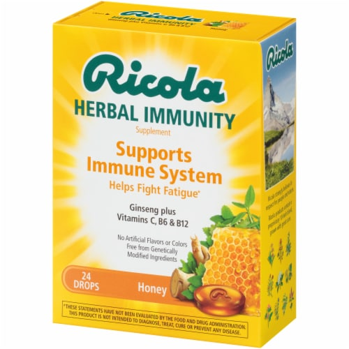 Ricola Herbal Immunity Honey Throat Drops Perspective: right