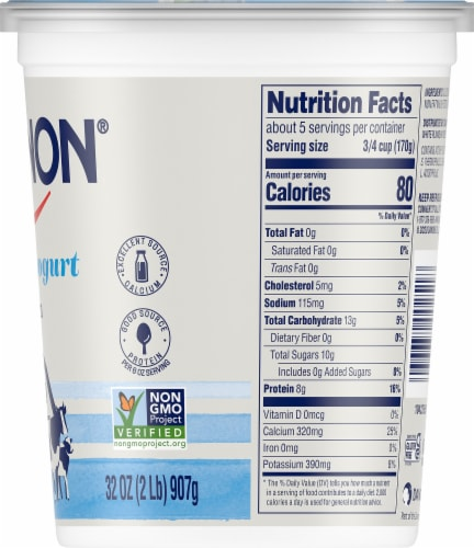 Dannon All Natural Plain Nonfat Yogurt Perspective: right