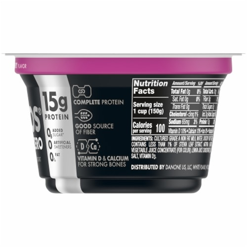 Oikos Triple Zero Blended Greek Mixed Berry Yogurt Perspective: right