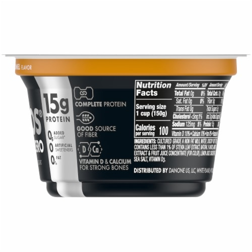 Oikos Triple Zero Salted Caramel Yogurt Perspective: right