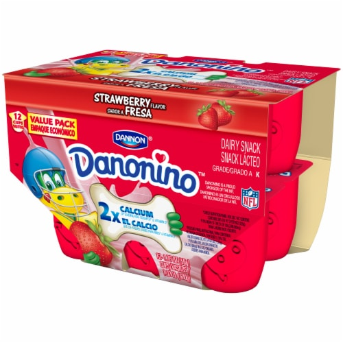 Dannon Danonino Strawberry Yogurt 12 Cups Perspective: right