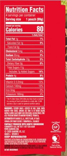 Danimals Strawberry Lowfat Yogurt Pouches Perspective: right
